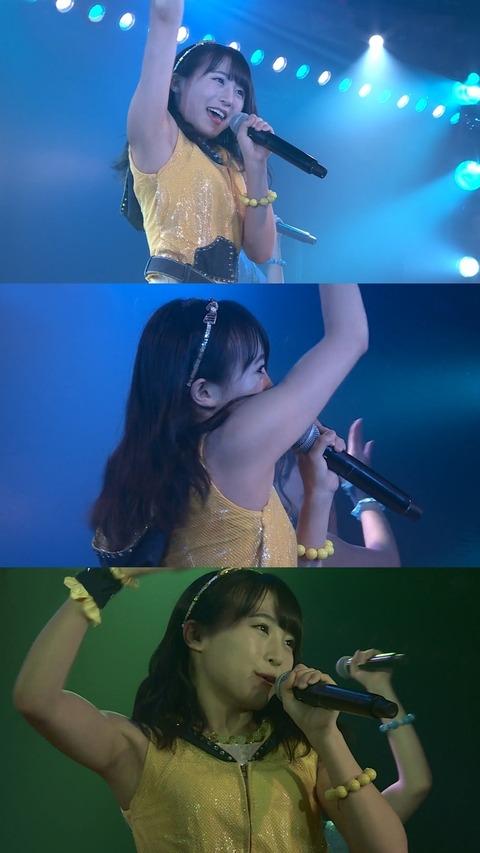 【AKB48】約半年間筋力トレーニングに励んだ坂口渚沙の体をご覧下さい
