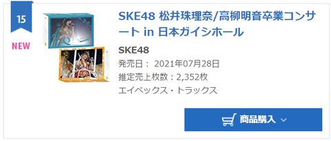 【悲報】松井珠理奈/高柳明音卒業コンサートDVD Blu-rayの売上が計2352枚の大爆死www