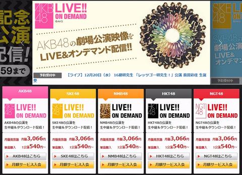 【AKB48G】DMMの「LIVE!! ON DEMAND」に入会しようと思うんだけど