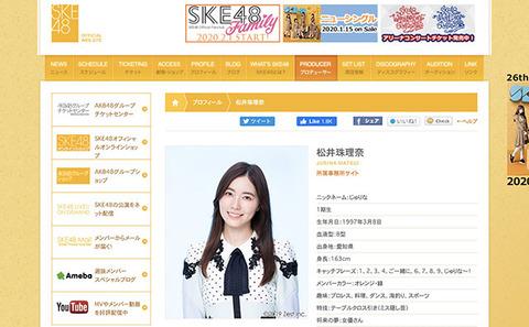 【SKE48】松井珠理奈、卒コン延期が物議!?どうなる「打倒・指原莉乃」