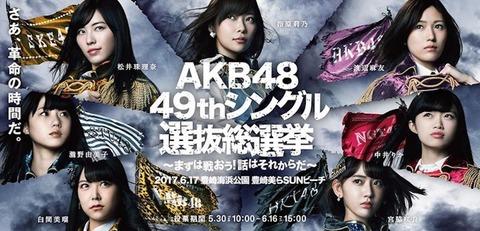 【AKB48総選挙】横山由依、向井地美音、岡田奈々、高橋朱里、この中で誰が神7に入れると思う?
