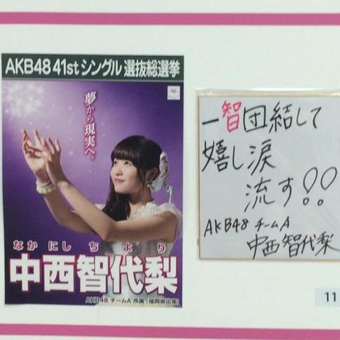 【AKB48総選挙】中西智代梨さん、ランクインまであと僅かだった模様