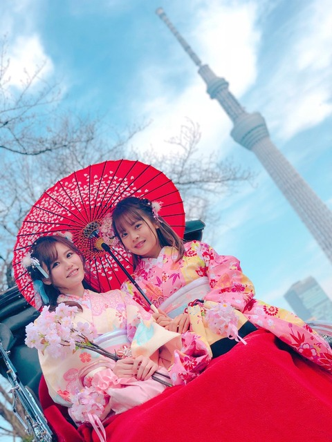 【AKB48】込山榛香と湯本亜美が着物姿で浅草へ!