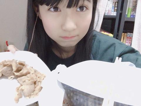 【HKT48】今村麻莉愛「まりあは牛丼とご飯分けてたべる笑」