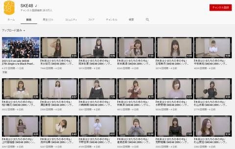 【悲報】SKE48のYouTubeチャンネルの推定収益額が新YNN以下だった・・・
