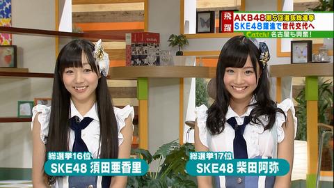 【SKE48】松村香織はブスだが須田亜香里と柴田阿弥はブスじゃない