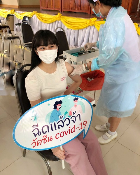 【CGM48】伊豆田莉奈さん、アストラゼネカワクチンを接種