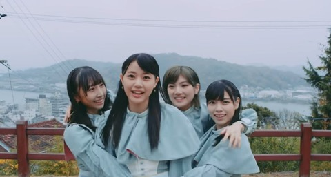 【悲報】STU48人気No.3の石田千穂、MVでモブ扱いに・・・