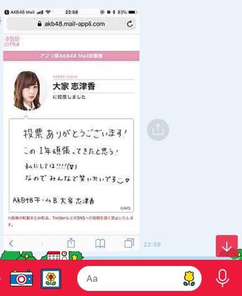 【朗報】長濱ねるが大家志津香に投票!写真集17万部パワーキタ━━━(゚∀゚)━━━!!【AKB48総選挙】