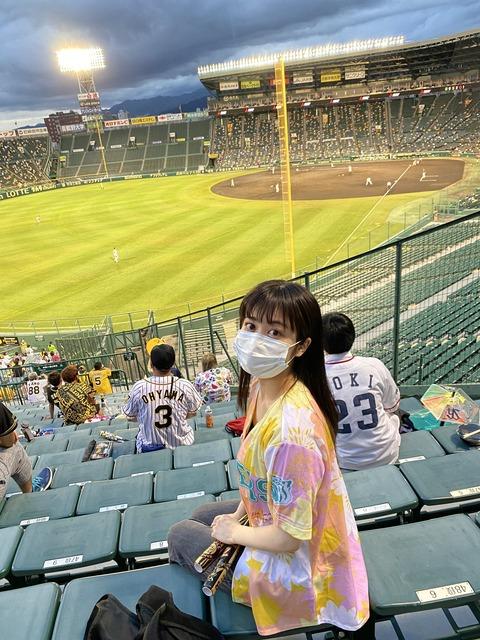 【NMB48】川上千尋「ボーア選手のホームランをこの目で見れたことに感動🥺🤍」