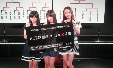 HKT予備選通過は朝長美桜、田中菜津美、宮脇咲良!