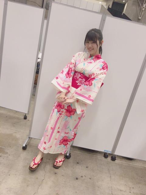 【乳砲】HKT48田中優香の、ゆかた越しのおっぱいの膨らみが凄い!!!