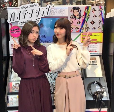【AKB48】46th「ハイテンション」2日目の売上は21,236枚