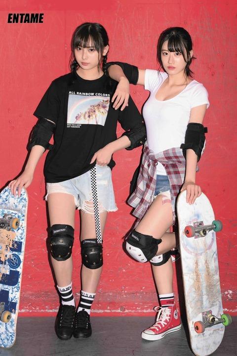 【NMB48】この二人組いつも一人だけお〇ぱい強調した衣装着せられてるんだけど【梅山恋和・上西怜】