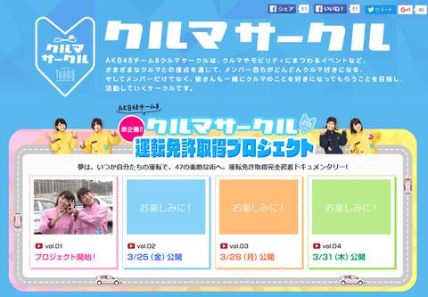 【AKB48】チーム8運転免許取得プロジェクト開始