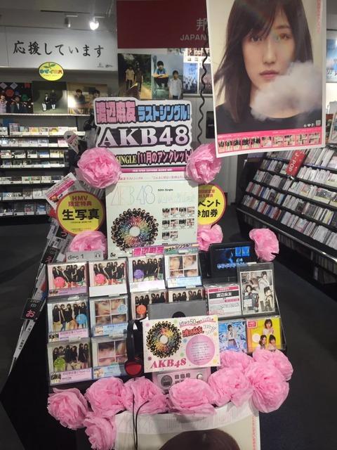 【AKB48G】凄いいいこと考えたぞ!劇場盤一枚を300円にして「三枚買うと握手一回」にしたら300万枚売れるだろ?