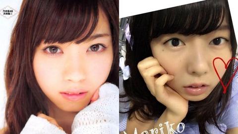 【AKB48】中村麻里子と西野七瀬って言う程似てるか?【乃木坂46】