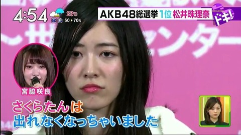 【SKE48】松井珠理奈ってパワハラで大炎上したからほとぼり冷めるまで体調不良で逃げ切る気なの?
