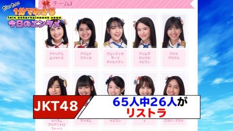 【悲報】JKT48さん、26人減の大リストラ・・・対象となるメンバーも発表