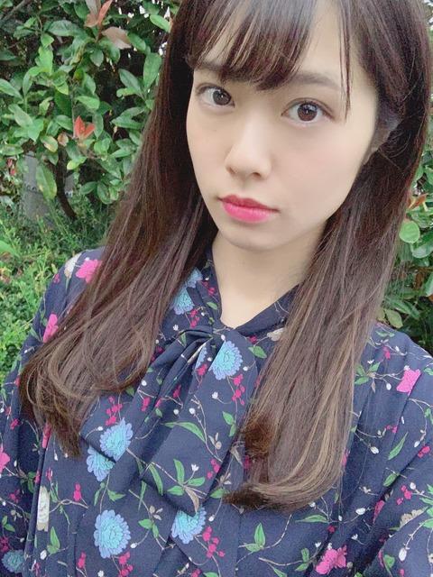 【AKB48】チーム8小田えりなが髪型をロングにして美少女になる