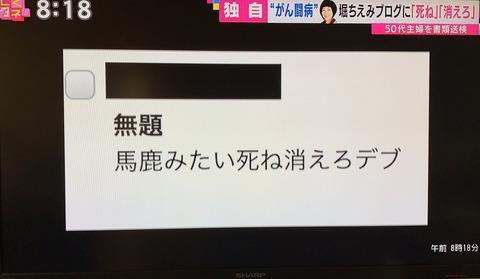 【人望民ピンチ】堀ちえみのブログに「死ね」と書いた50代女性が書類送検