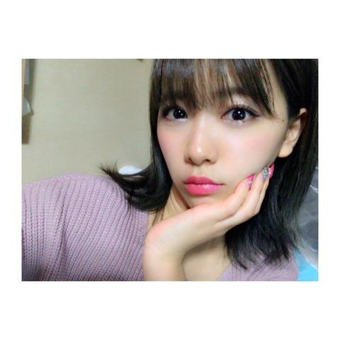 【NMB48】金髪ギャルでお馴染みの森田彩花が黒髪にイメチェン
