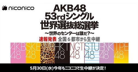 【AKB48総選挙】フジテレビきくちP「選挙、宮脇さん勝たないかな?」
