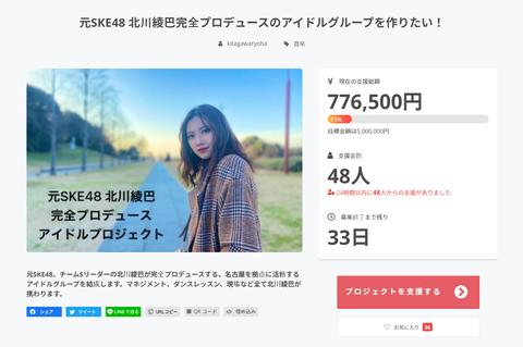 【ネットニュース】元SKE48北川綾巴のクラファンがただのパパ活と物議