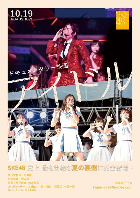 ノブコブ徳井「SKE48の映画観てきた。こんな映画観ちゃったらまたアイドル目指す子が増えちゃう。それくらいみんな格好良かった」