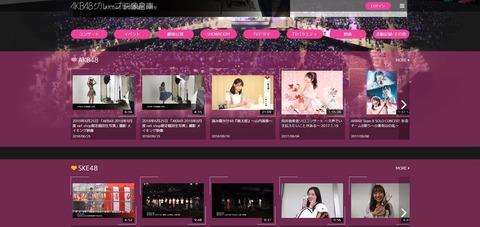AKB48グループ映像倉庫、登録したけど見るもん何にもねぇwww