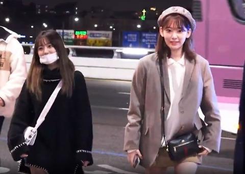 【IZ*ONE】活動再開間近の宮脇咲良、矢吹奈子が金浦空港にあらわれる