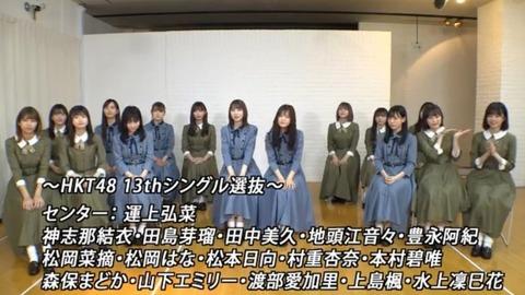 【HKT48】14thシングルセンターは誰になる?