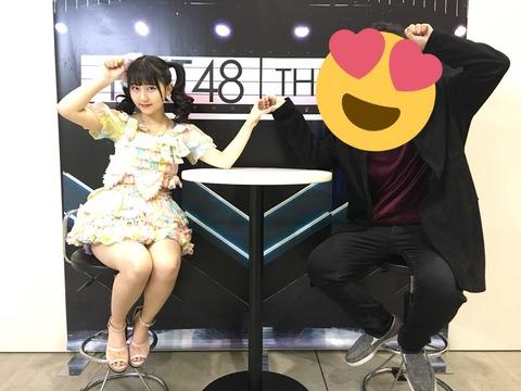 【朗報】HKT48の写メ会、テーブルが半分に!さらにセクシー衣装!!!