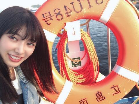 【朗報】広島で映画を撮影中の武藤十夢が、STU48の船上劇場公演を視察!