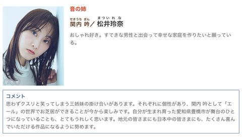 【朗報】松井玲奈が来春朝ドラ「エール」にレギュラー出演!!!