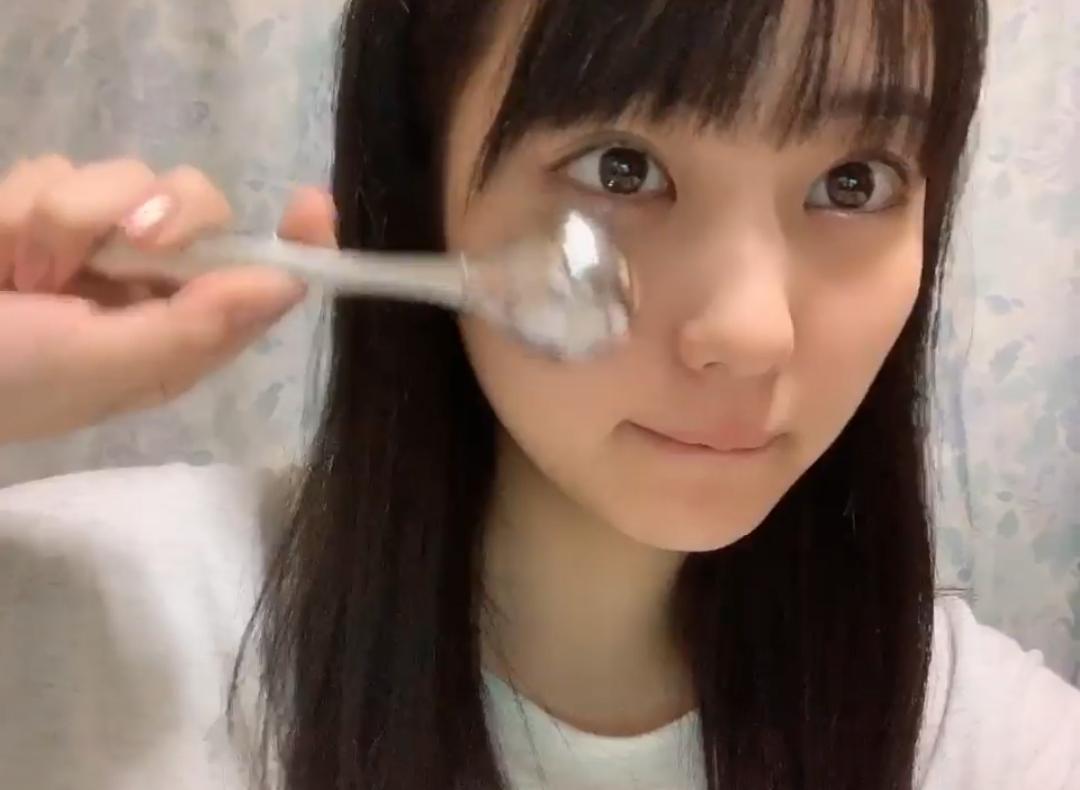 【HKT48】みくりん「新しい小顔ローラー」【田中美久】