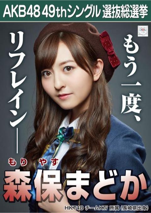 【HKT48】森保まどか「いつまでもアイドルで、HKT48で、のうのうとしている訳にはいかないんです」