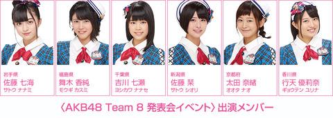 【AKB48】1月28日のチーム8東京イベント出演メンバーがなかなか良い件