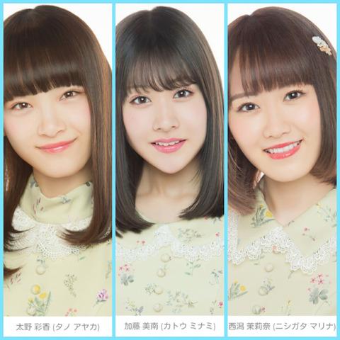 【NGT48】太野彩香・西潟茉莉奈・加藤美南の今後を予想