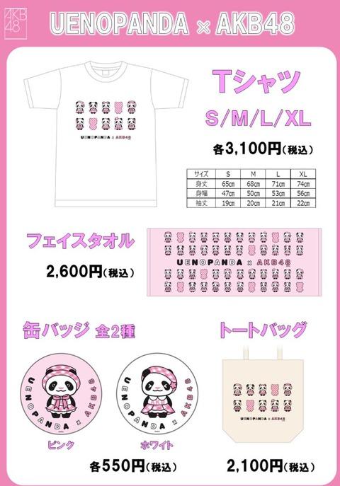 【朗報】上野パンダ×AKB48コラボグッズ販売のお知らせ!