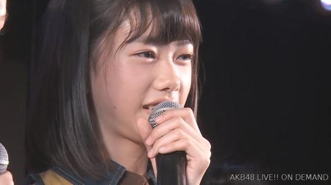 【悲報】AKB48千葉恵里が劇場公演にて卒業発表・・・