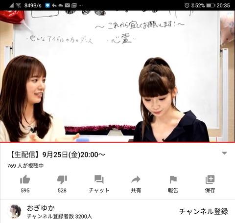 【悲報】荻野由佳さんのYouTube生配信、速報5万票入れる程大勢のファンがいるはずなのにたったの700人wwwwww【NGT48】
