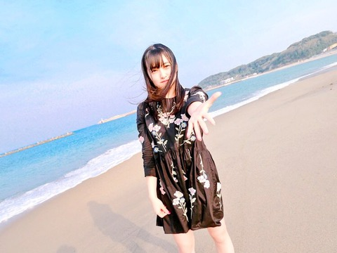 【HKT48】田島芽瑠「#彼女と海デートなう に使っていいよ」