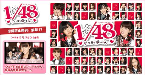 【AKB48】ゲーム「AKB1/48 アイドルと恋したら……」の思い出【PSP】