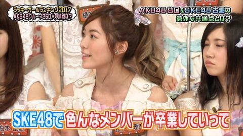 【SKE48】松井珠理奈さん、AKBINGOで唐突に重たい話しを始める