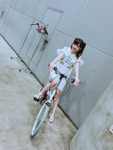 【AKB48】小栗有以ちゃんが乗ってる自転車のサドルになりたい・・・【ゅぃゅぃ】
