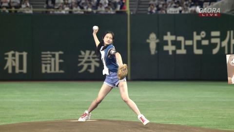【動画】NGT48長谷川玲奈、始球式で完璧なストライクを決めて爪痕を残す!