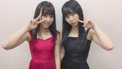 【HKT48】なこみくの最新お●ぱい!!!【矢吹奈子・田中美久】