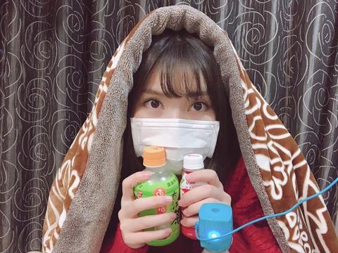 【AKB48】家族がインフルエンザにかかった福岡聖菜ちゃんの予防姿をご覧くださいwww