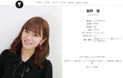 【元AKB48】飯野雅の所属事務所が株式会社YMNに決定!!!